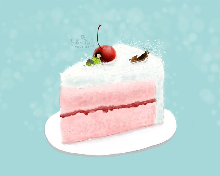 cake..  #digitalart #watercolor #painting