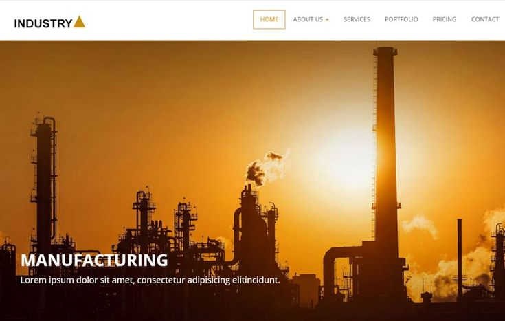 free industry website template