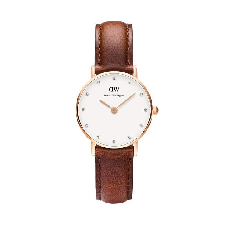 With a case size of just 26 millimeters, this is the most minimalistic collection of watches by Daniel Wellington. The slim dial, flawless band, elegant design and exclusive Swarovski crystals makes it a timepiece that oozes classy femininity. Whether you are attending a formal event, playing a game of tennis or enjoying a sunny day at the country club – Daniel Wellington makes for a beautiful companion. Interchangeable strap: Leather. Case size: 26mm diameter. Avoid all contact with water…