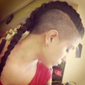mohawk braid style ponytail