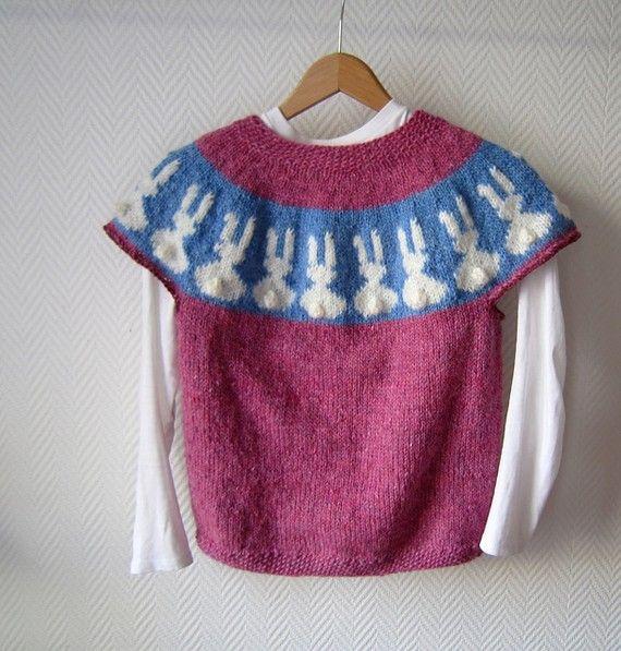 Best Bunnies Sweater PDF Knitting Pattern