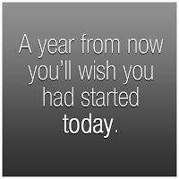 Think ahead and start your workouts today!  Next summer you will be glad you started now! Don't miss out on a fit body next summer :)