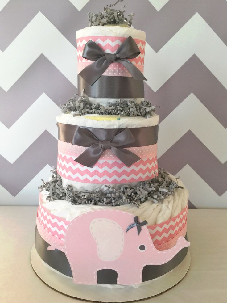 1000 ideas about elephant diaper cakes on pinterest for Baby diaper cake decoration