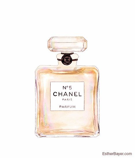 Chanel No.5 Perfume Bottle Colorful Fashion van EstherBayer op Etsy