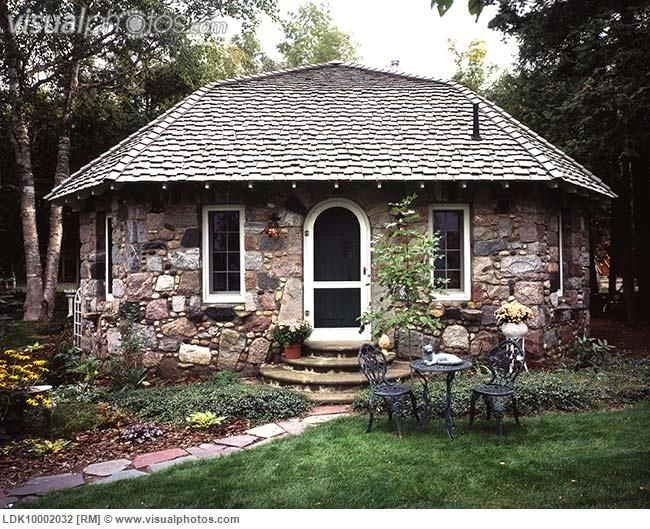 Stone Cottage With Shingled Roof