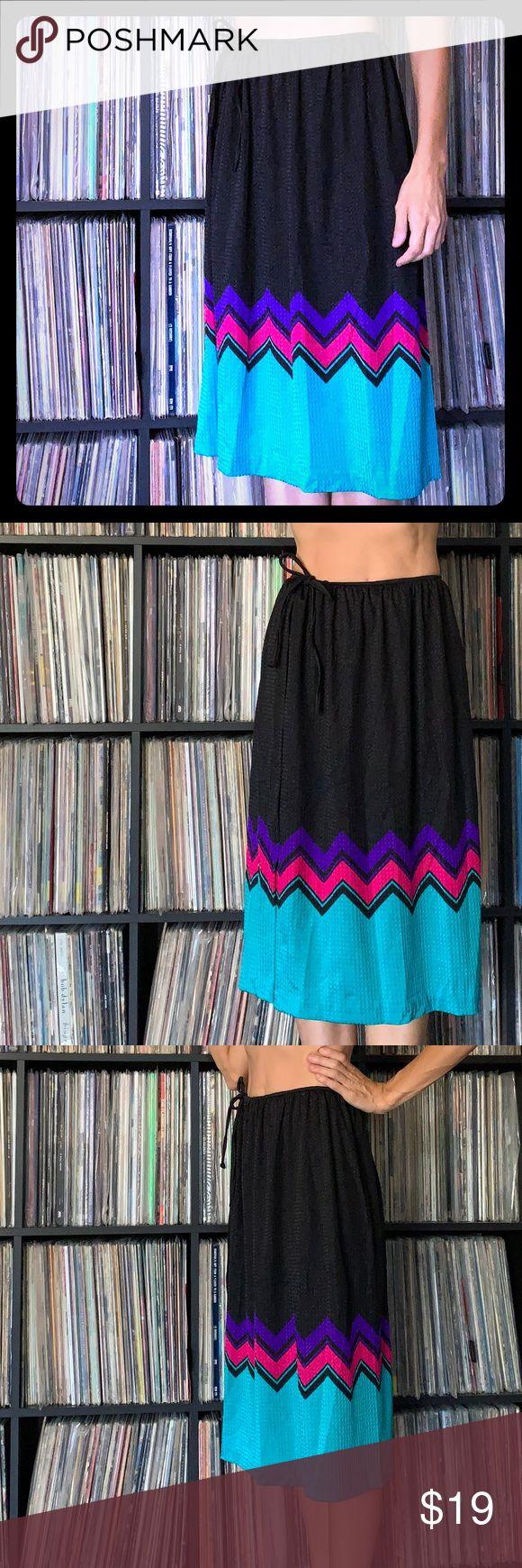Catalina Vintage Swim Coverup Skirt Chevron Super bright and fun swim coverup sk…