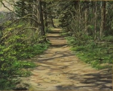 Plein Air - Tsulum River Trail – Oil on Canvas  -  Paintings by Stephen Cole