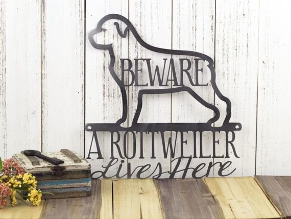 Rottweiler Metal Wall Art | Metal Sign | Dog Sign | Wall Hanging |  Rottweilers |