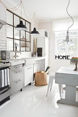 Home kitchen white