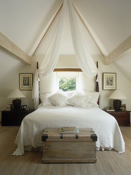 Love exposed beams bring so much character to a space ~ Country Living