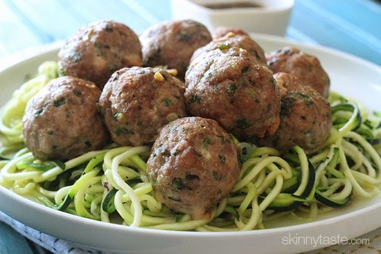 Asian Turkey Meatballs With Lime Sesame Dipping Sauce | Skinnytaste ...
