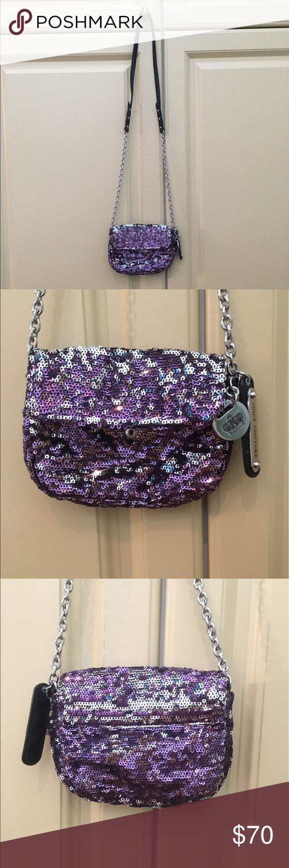 Sparkly purple juicy couture purse Perfect bag to complete any outfit!! Almost perfect condition! Juicy Couture Bags Crossbody Bags