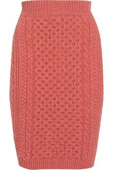 Stella McCartney Cable-knit wool mini skirt | THE OUTNET