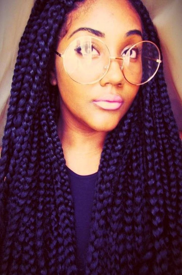 Glasses Frame Color For Black Hair : box braid black hairstyles Im posting this mainly for the ...