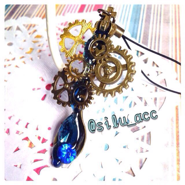 Resin charm A spoon full of sea water