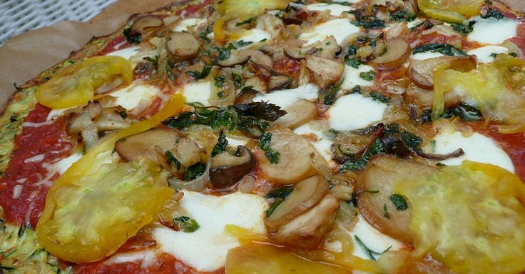 Křupavá cuketová pizza se sýrem