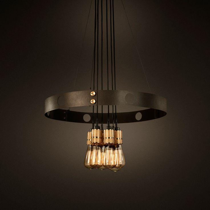 HERO light by Buster + Punch. Ceiling lamp. Loftlampe og pendel med glødetrådspære.