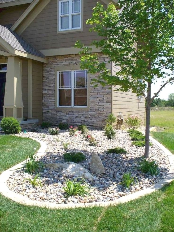 Easy Landscaping Ideas: Simple Low Maintenance Front Yard Landscaping Ideas (14