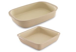 Includes Rectangular Baker and Square Baker in Taupe. PAMPERED CHEF OUTLET! $37.70