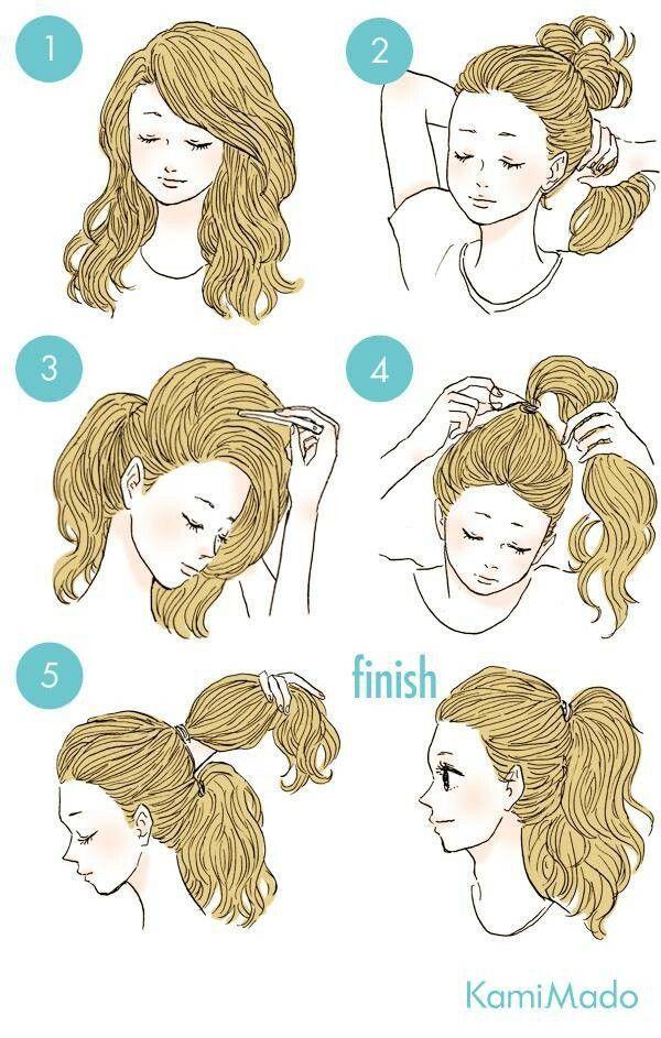 Easy Hair Ideas For School : Come avere i cappelli ancora piu lunghi con una semplice coda
