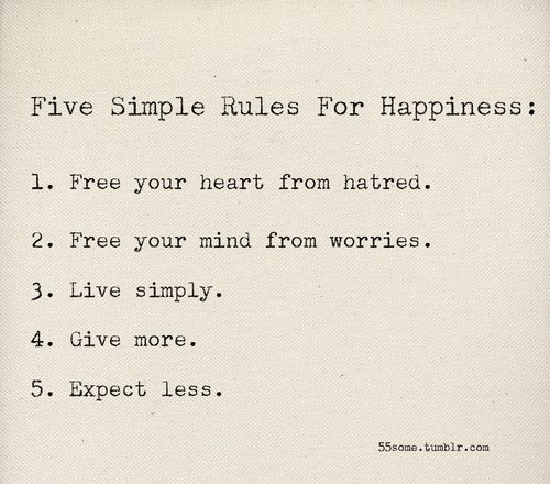happiness.Thoughts, Life, Happy, Simple Rules, Wisdom, Happiness, Things, Living, Inspiration Quotes