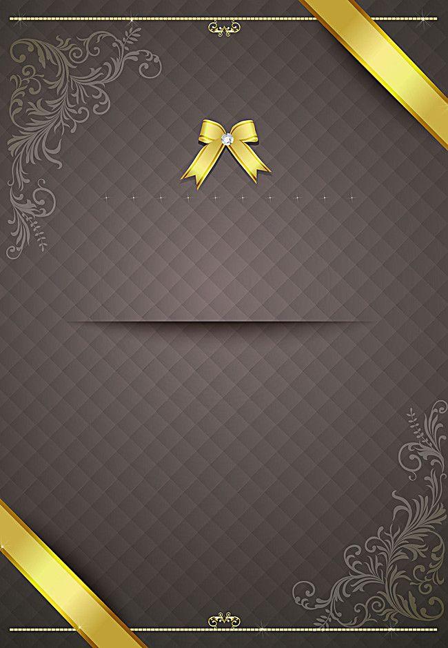 Ribbon Bow Pattern Invitation Invitation Card Background Vector Ai