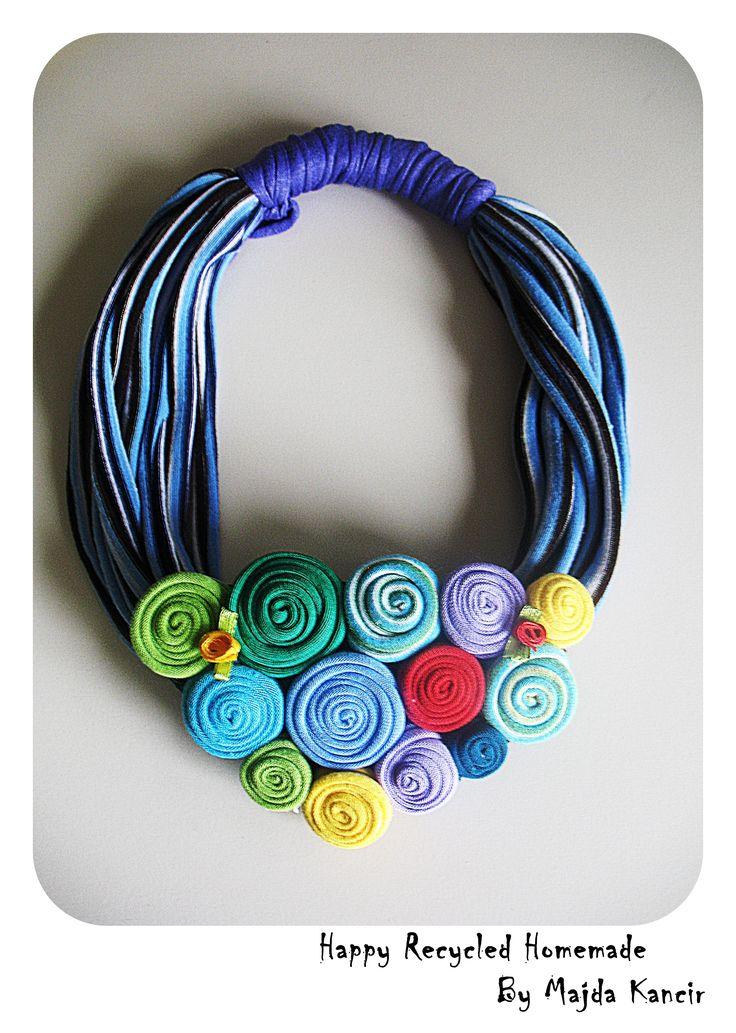 unique necklace made of cotton ....