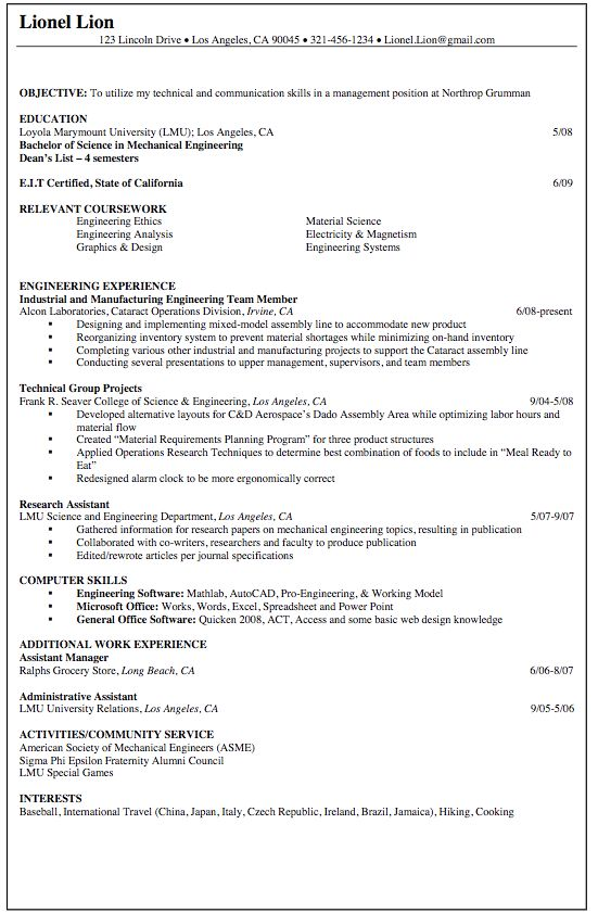 Grocery Store Resume Sample