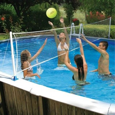 Poolmaster Above Ground Poolside Combo Basketball/Volleyball Game, None - Dnu