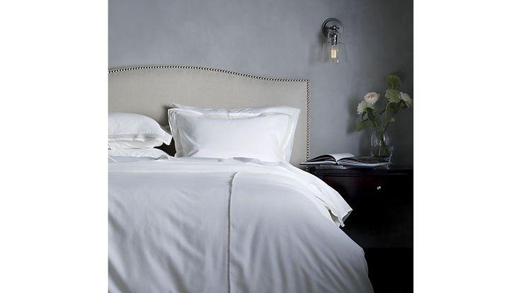 Colette Upholstered Bed   Crate and Barrel