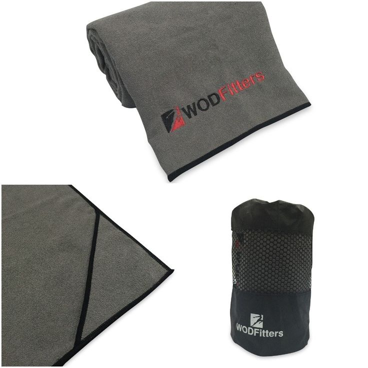 WODFitters Microfiber Yoga Towel (Grey with Black, Large). THE ULTIMATE YOGA TOWEL FOR YOGA MATS: Provides safe and non-slip environment around while you are enjoying a rejuvenating Yoga practice either at home or at the gym. Get that perfect posture and balance that you deserve starting from today!. DURABLE SUEDE MICROFIBER CONSTRUCTION: Forget all those cheaply made Polyester towels and trust our wonderfully designed microfiber towel for your workouts. It is made from high quality Suede...