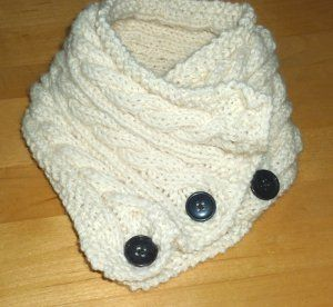 One Ball Cabled Cowl
