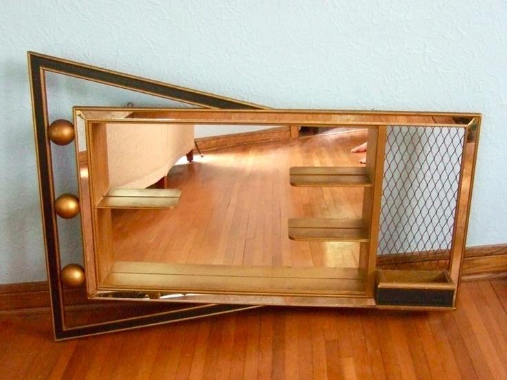 VTG 50S MID CENTURY MODERN EAMES RETRO ATOMIC MIRROR SHADOW BOX WALL SHELF | eBay