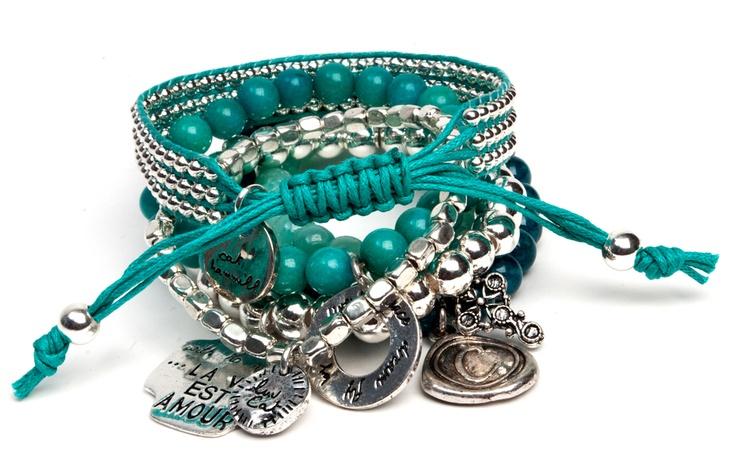 Cat Hammill Winter 2012 bracelet sets in store mid-April.
