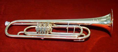 Basstrompete Bb Drehventile Tenortrompete mit Koffer