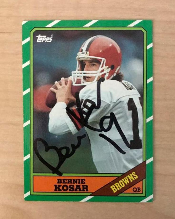 BERNIE KOSAR CLEVELAND BROWNS SIGNED AUTOGRAPHED 1986 TOPPS CARD #187 W/COA  #Topps