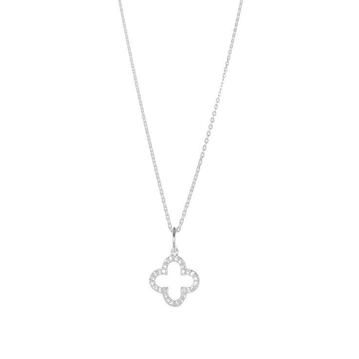Halskette Kleeblatt, Silber