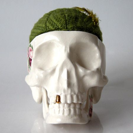 UK designer Luke Twigger has created a range of skull-shaped containers with cushions for brains
