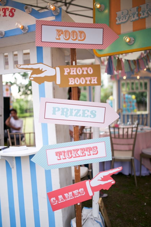 Tiffany's Dainty Carnival Themed Party – Entrance