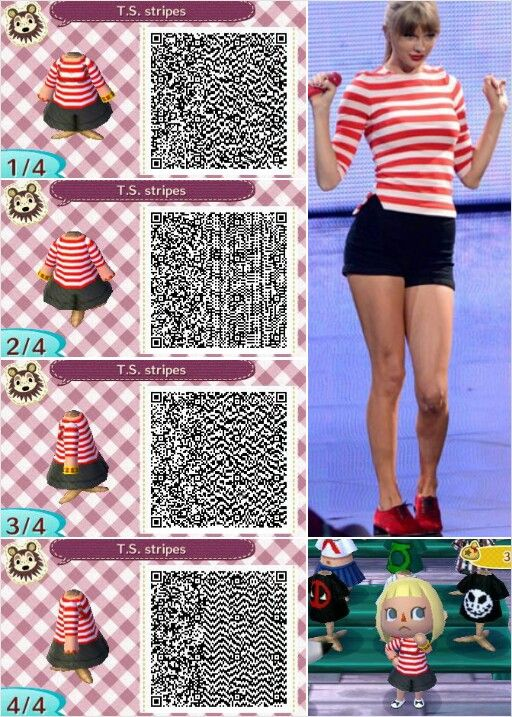 Taylor swift outfit design by peanut fashions for animal Boden qr codes animal crossing new leaf