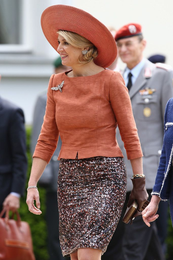 Queen Maxima of The Netherlands smiles during her visit to German President Joachim Gauck  at Bellevue Palace on 3 June 2013 in Berlin, Germany