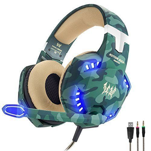Wired Gaming Headset USB Surround Sound With LED Light Microphone Headphones New #WiredGamingHeadset