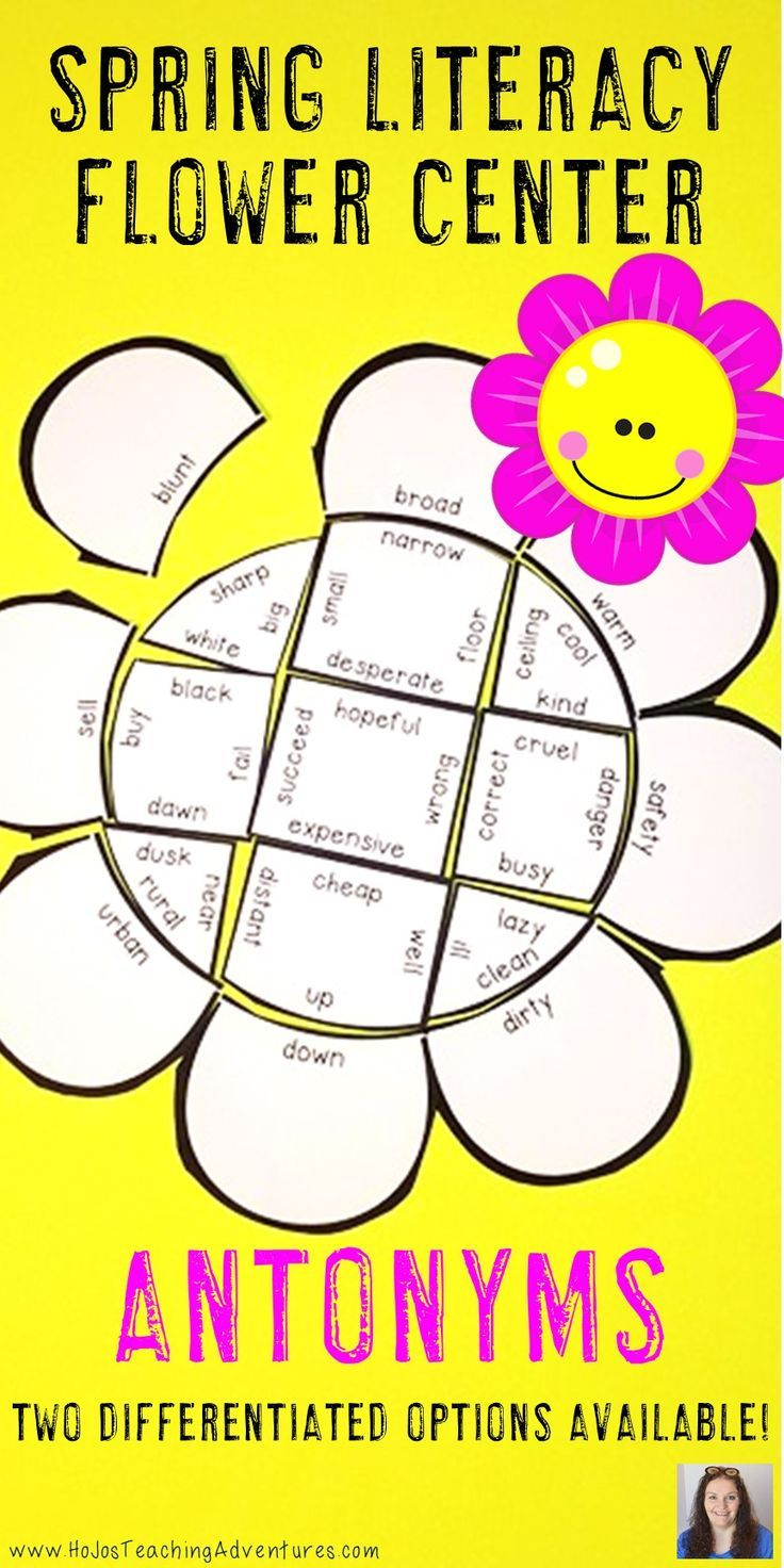 These Antonym Flower Puzzles are great for spring ELA literacy centers, review, early & fast finishers, enrichment, GATE, & critical thinking skills. Great for a lesson in perseverance. With this fun game format your students will stay engaged while practicing necessary skills! Use them in your second, third, fourth, or fifth grade classroom or home school! Low prep - just print, cut, and go! {2nd, 3rd, 4th, 5th, graders, upper elementary, flowers, March, April, May, Mother's Day, antonyms}
