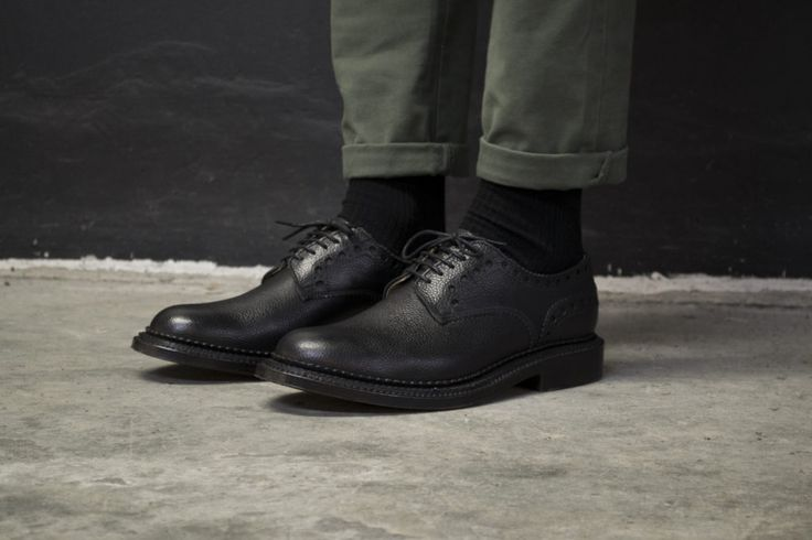 // William in Black //   Shop here: http://www.grenson.com/uk/william-mens-brogue-black-burnished-calf-grain-leather-triple-welt-leather-sole-neighborhood-by-grenson.html