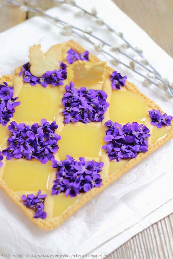 Every Cake You Bake: Mazurek fiołkowy