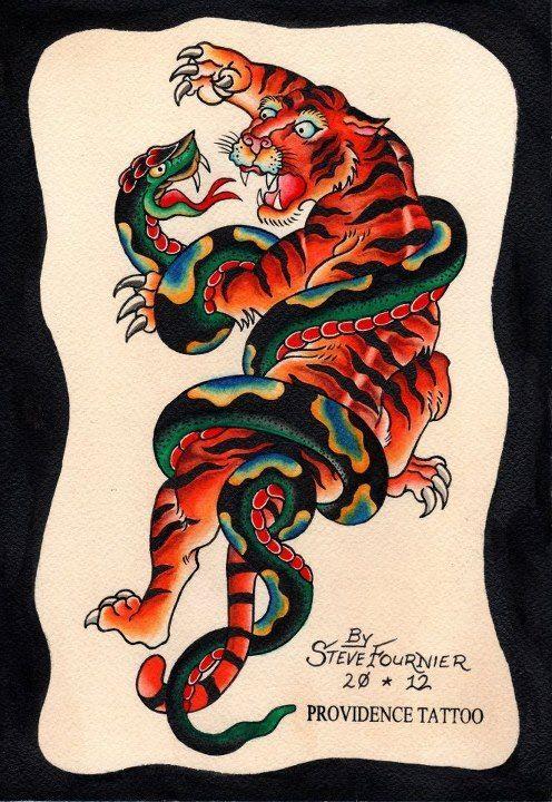 ... Tigers Art Tattoo Tigers Tattoo Snakes Fight Kowloon Tigers Fight