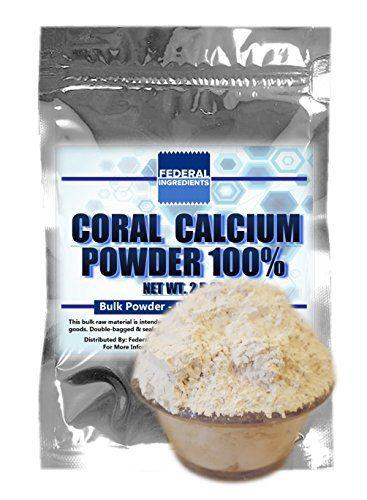 CORAL CALCIUM POWDER - 2.5 Ounce (70 Grams) Lab Grade Sample - Made in the USA by Federal Ingredients - aka marine coral calcium marine grade coral calcium, http://www.amazon.com/dp/B01GXG0VQC/ref=cm_sw_r_pi_awdm_x_WrxaybW1Y0W4G