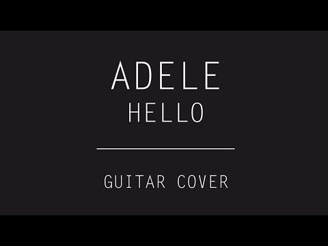Adele - Hello (Guitar Cover) #electric #rock #youtube #music #band #powerful #design #black #white #guitarist #lights #popular #song #drums #bass