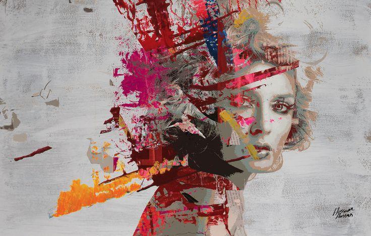 """Saatchi Online Artist: Hossam Hassan; Paint, 2012, Mixed Media """"Her True Colors"""""""