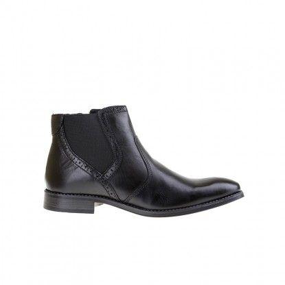 Pánské kotníkové boty z pravé kůže MATAR - černá